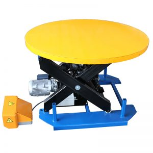 HRL1000 Stationary lift table with carousel turntable