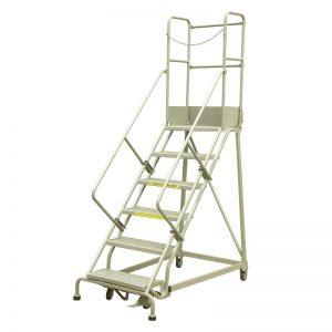 औद्योगिक स्टील रोलिंग सीढ़ी